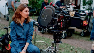Sofia Coppola on the set of 'The Beguiled'.