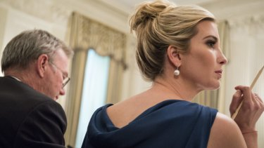 Ivanka Trump during a meeting at the White House.