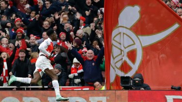 Firing line: Danny Welbeck celebrates after scoring on his return from injury.