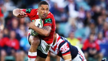 Over and out: Benji Marshall.