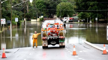 Parts of Newbridge Road were closed due to floods for most of Wednesday.