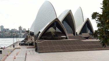 The Sydney Opera House during last week's evacuation.