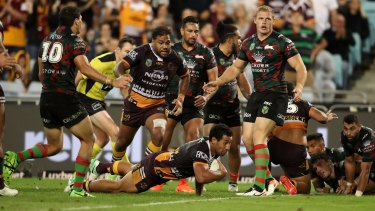 Flashpoint: Referees boss Tony Archer says Tautau Moga's try should not have been allowed.