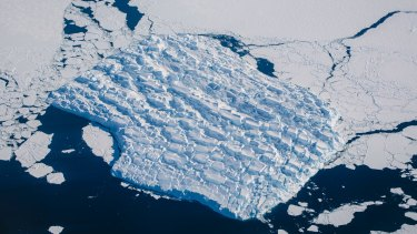 Flying over Antarctica in a Qantas 747-800, a 13-hour round trip from Sydney.