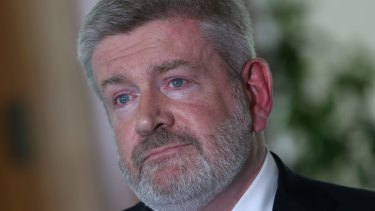 Communications Minister Mitch Fifield (above) said he encouraged then senator Stephen Parry to clarify his citizenship status.