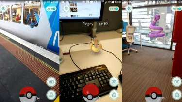 A wild Zubat at the station, plus a Pidgey and an Ekans at the office.