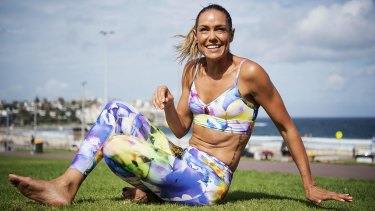 SYDNEY, AUSTRALIA - MARCH 15:  Leah Simmons works out in Running Bare activewear on March 15, 2016 in Sydney, Australia.  (Photo by Christopher Pearce/Fairfax Media)