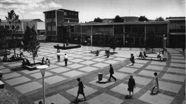 Garema Place in the city centre in the summer of 1964.