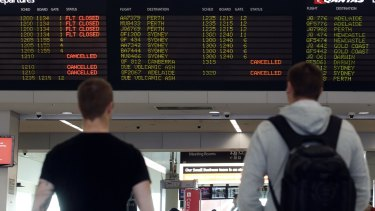 Flights to and from Bali have been cancelled since Tuesday.