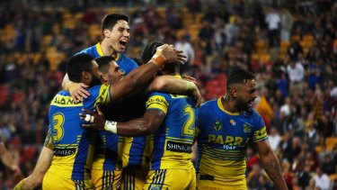 Crowd control: Mitchell Moses has been in outstanding form for Parramatta.