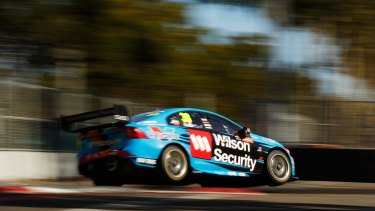 Full throttle: Scott McLaughlin during the Sydney 500 at the Sydney Olympic Park street circuit earlier this month.