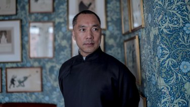 Guo Wengui, who has been living outside China for more than two years, at the prestigious Mark's Club in Mayfair, London, in March.