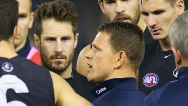 Brendon Bolton: With the Blues, not out in front lecturing them.