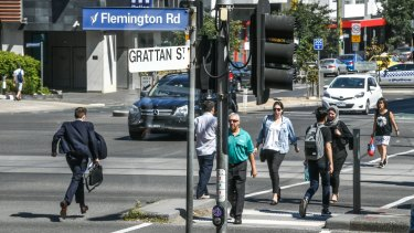 The intersection of Grattan Street and Flemington Road has had the most serious pedestrian injuries in the past five years.