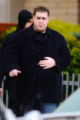 Omar Chaouk at his father's funeral in Preston.