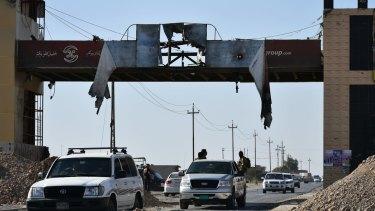Iraq federal forces enter Altun Kupri, on the outskirts of Irbil, Iraq.
