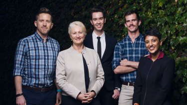 Dr Brad McKay, Professor Kerryn Phelps AM, Liam Mason, Dr Joe Monteith and Ashna Basu gather in Sydney ahead of the release of the AMA's new position on same-sex marriage.