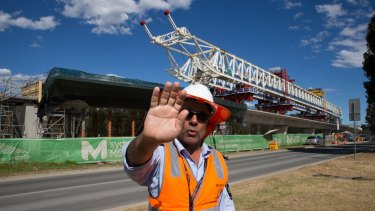 The Skytrain elevated section of the Sydney Metro NorthWest project has been plagued by construction issues.