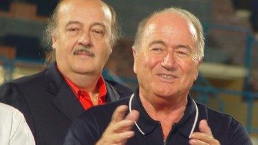 FFA consultant Peter Hargitay (left) with former FIFA president Sepp Blatter.