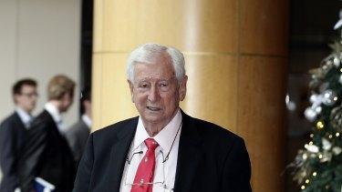 Billionaire Bruce Gordon, whose WIN Corp is suing Nine Entertainment.