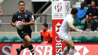 Third code: Jarryd Hayne in action for Fiji during the pool round match between England and Fiji during the London Sevens at Twickenham Stadium on May 21.