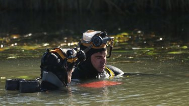 Police divers found Stephanie Scott's laptop in an irrigation canal near Leeton.