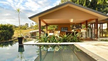 A luxury hinterland villa at Mount Nathan, Queensland.