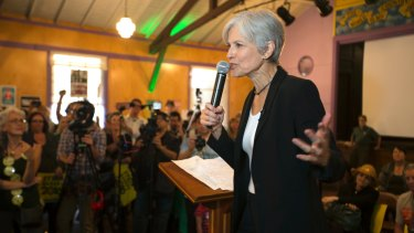 Fighting for a recount: Green Party nominee Jill Stein.