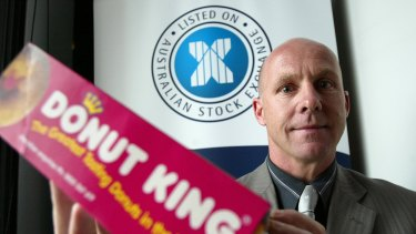 Former chief executive Tony Alford at the time of the Donut King's listing on the ASX.