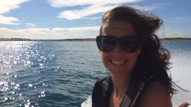 Amanda Cordner, all at sea ... literally.