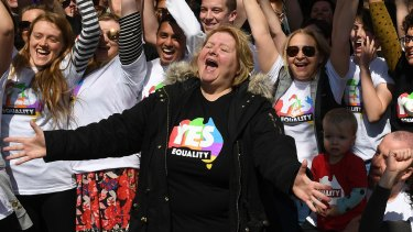 Comedienne Magda Szubanski launches the official yes campaign on Sunday.