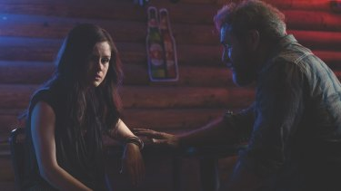 Life gets complicated for Erin Moriarty and Mel Gibson in <i>Blood Father</I>.