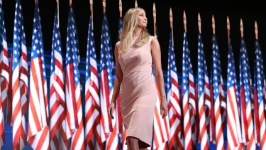 Promoting her brand: Ivanka Trump wore a dress from her clothing line at last year's Republican National Convention.