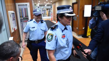 Police raid the NSW Workers Union offices in Sussex St, Sydney.