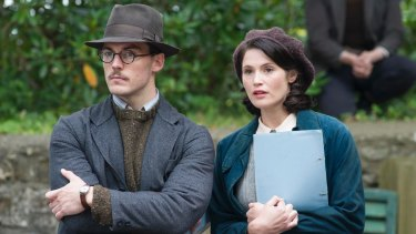 Sam Clafin, channeling Nicholas Hoult, with Gemma Arterton in Their Finest.
