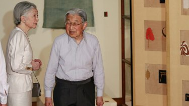 Japanese Emperor Akihito and Empress Michiko in Tokyo earlier this month.