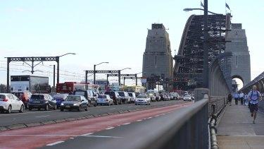 Traffic on the Harbour Bridge
