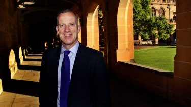 Education Minister Simon Birmingham is targeting the $1.4 million salary of University of Sydney vice-chancellor Michael Spence (pictured).