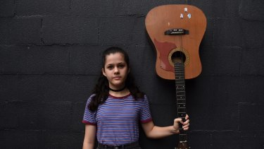Mia Betteridge is attending the first Girls Rock! Sydney event, a week-long music empowerment program.