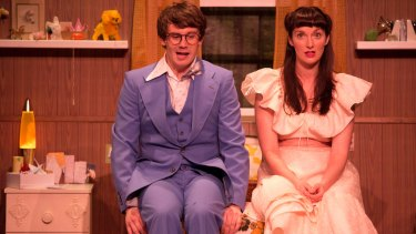 Dylan Young and Ellen Steele star in Windmill Theatre Co's production of <i>Girl Asleep</I>.