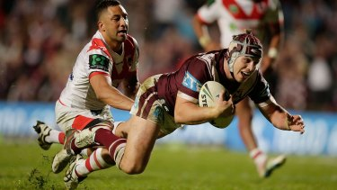 Embarrassing: Benji Marshall says the 30-point loss to Manly at Brookvale was a low point for the Dragons.