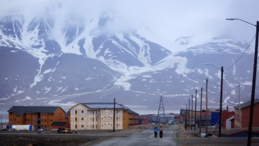 The remote town of Longyearbyen, located in an archipelago of islands in the high Arctic.