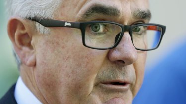 Andrew Wilkie at Parliament House on Wednesday.
