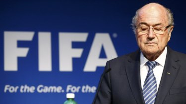 Surprise announcement: Sepp Blatter fell on his sword hours after the emergence of a letter that suggested FIFA had lied.