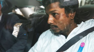 Manodh Marks is taken from Tullamarine to the Melbourne Magistrates Court on Thursday.