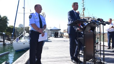 Australian Federal Police acting Deputy Commissioner Neil Gaughan and Justice Minister Michael Keenan announce Australia's biggest cocaine seizure.