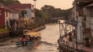 The Malacca River in Malaysia.