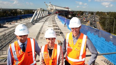Premier Gladys Berejiklian marking progress in building the Sydney metro.