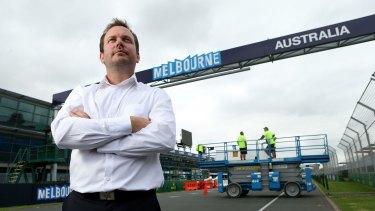 Craig Moca oversees the six-week track build at the Australian Grand Prix.