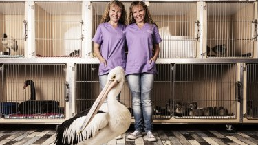 Twins Bridgette (at left) and Paula at their Sunshine Coast seabird sanctuary.